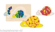 goki 57898 Couche de puzzle Puzzle en bois Escargot 11 pcs neuf! %
