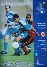 Programm 1999/00 MSV Duisburg - Eintracht Frankfurt