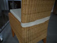 Stuhlkissen 40 x 40 x 4 cm Sitzkissen mit Klettband beige, Kunstleder