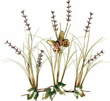 Field Of Lavender w/ Butterfly Metal Wall Art Sculpture- Bovano of Cheshire F111