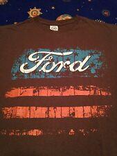 Vtg Ford racing t shirt American Flag Distressed style logo sz M Car Truck 4x4