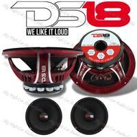 "DS18 PRO-NEO8R 1600W Mid Bass Neodymium Midrange 4 Ohm Car Audio Speaker 8"" Pair"
