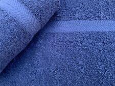 24 NEW BLUE SALON SPA GYM TOWELS DOBBY BORDER RINGSPUN 16X27 3LBS PREMIUM