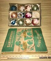 + 11 Vtg. Shiny Brite Christmas Tree Mercury Glass Mixed Ornaments 1950's/60's +