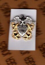 USN Navy Officer hat badge 1.25 inch clutchback cb