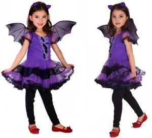 Fasching Halloween Karneval Kostüme Batgirl mit Fledermausflügel/Ohrstirnband