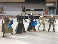 1996-1997 Star Wars Action Figure Lot Of 5 With Accessories