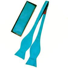 NEW MEN'S SOLID Microfiber Self tie Bow tie And Pocket Square Handkerchief Set