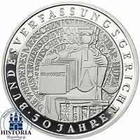 BRD 10 DM Bundesverfassungsgericht BVG  2001 Silber Spiegelglanz in Münzkapsel