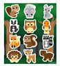 6 Wildlife Sticker Sheets - Pinata Toy Loot/Party Bag Fillers Wedding/Kid Animal