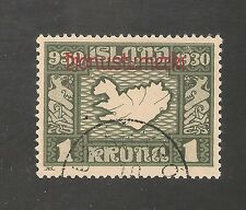 Iceland #O64 VF USED - 1930 1k Map Of Iceland - Official Stamp - SCV $400.00