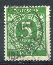 ALLEMAGNE OCCUPATION INTERALLIEE, ZONE A.A.S., 1946, timbre 5, CHIFFRE oblitéré