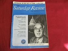 1944 Saturday Review June, Dorothy Thompson, E. Howard Hunt, Mann, Sinclair, ETC