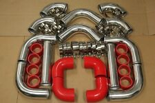 RED 3' TURBO INTERCOOLER PIPING KIT+COUPLER+CLAMP ACCORD PRELUDE H22 F22 H23