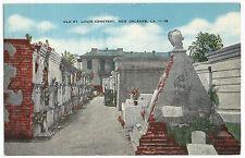 New Orleans La Old St Louis Cemetery Vintage Postcard