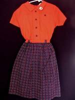 VERY RARE DEADSTOCK 1940'S GIRLS COTTON  DRESS SIZE 6-7