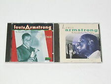 LOUIS ARMSTRONG 2 CD LOT COLLECTION ALBUMS Best Of The Decca Years Volume 1 & 2