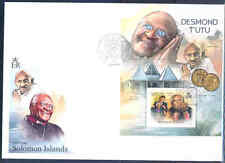 SOLOMON ISLANDS 2012 DESMOND TUTU   S/SHEET FIRST DAY COVER