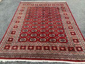 8' X 10' Paki Bokhara Handmade Wool Rug