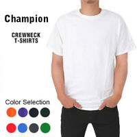 *NEW MEN CHAMPION COTTON CREW NECK CREWNECK T-SHIRT TSHIRT TEE SIZE L XL 2XL 3XL