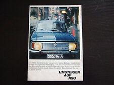 Prospekt NSU 1000 1000C TT TTS 1967 · 21x30cm · 4 Seiten