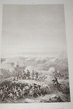 BATAILLE DE LA MUGA ESPAGNE 1794 GRAVURE 1838 VERSAILLES R1366