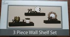 True Living Essentials 3 Pc Wall Shelf Set