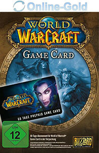 World of Warcraft Spielzeit 60 Tage - Battlenet 60 Tage WOW Gamecard Code NEU EU