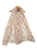 Penguin Animal Print Floral Ladies Fashion Maxi Scarf Wrap Sarong Long Soft Warm