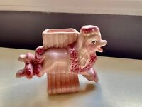 Ceramic Fashion by OPCO Vintage Pink Poodle Shaped Planter Ohio Pottery
