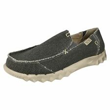 Mens Hey Dude Farty Braided Canvas Casual Slip on Shoes UK 11 Black
