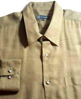 Hart Schaffner Marx Mens Olive ITALY Nice High End Designer Shirt XL