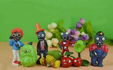 8pcs Plants vs Dancing Zombies Action Figures Set Kids Toy Cake Topper Car Decor
