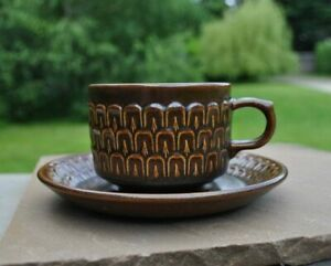 Wedgwood Pennine cup and saucer - Made in England - Retro tableware