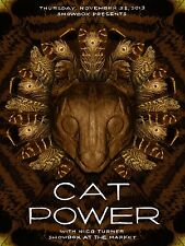 CAT POWER / NICO TURNER 2013 SEATTLE CONCERT TOUR POSTER - Indie/Folk/Blues Rock