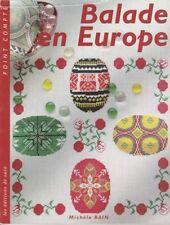 Balade en Europe Broderie point compté M. Rain