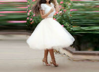 White 7 Layers lace Tulle Celebrity Skirts womens Adult Tutu Ball Gown