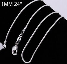 925 STAMPED SILVER PLATED THIN CHAIN NECKLACE 24 INCH 61cm x 1mm REPLACEMENT N21
