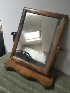 Vintage Antique adjustable mahogany medium table mirror