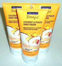 3 Freeman Coconut & Peach Hand Cream Smoothes For Soft Skin