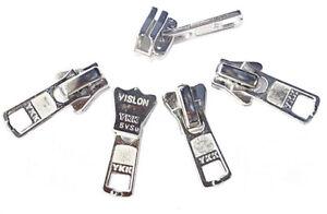 YKK Zipper Repair Kit #5 VISLON Auto-Lock Slider Aluminum Suitable Plastic Teeth