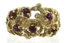 Ladies Vintage Ruby Ring in 14 kt Yellow Gold