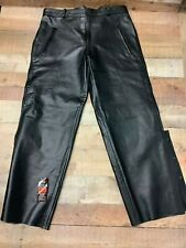 Attractive Unisex Cowhide Black Leather Motorcycle Pants/Jeans  #0128