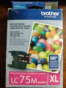 Brother LC 75 Magenta Ink Cartridge 2017 expired