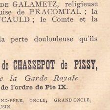 Adalbert Thimoléon Charles De Chassepot De Pissy 1891