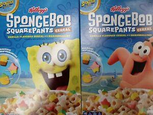 Kellogg's Spongebob Squarepants & Patrick Cereal w/Mmlw 2 - 8.7oz Bxes bb 3/2021