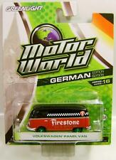 VOLKSWAGEN PANEL VAN FIRESTONE MOTOR WORLD GREEN MACHINE CHASE CAR DIECAST 2016