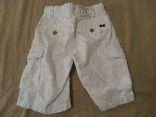 Boys Lucky Brand Cargo Shorts 5 White Cotton Khaki