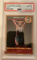 2013 NBA Hoops Giannis Antetokounmpo Gold #275 PSA GEM MT 10 (Rookie)