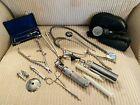 Old Vtg Medical Dental Surgical Tool Tools LOT BP Cup Stethoscope Scissors